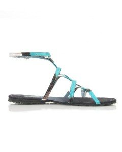 Blue Fair Trade Sandals, the more decorative style of Fair Trade Shoes.