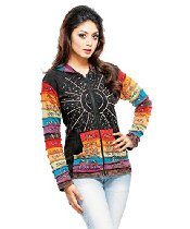 Fair Trade Rising International Inc Women's Starburst Rainbow Jacket