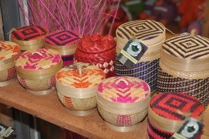 Cambodian Fair Trade products at a local market